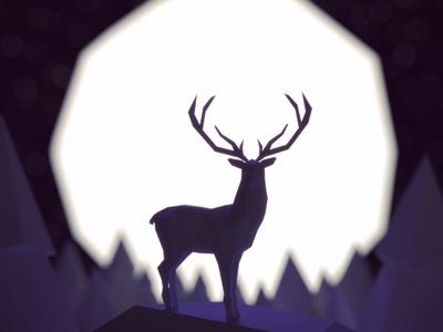 Dear deer isometric blender deer moon
