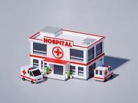 Lowpoly Hospital