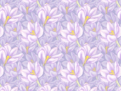 Saffron watercolor seamless pattern floral pattern floral art floral design floral violet saffron flowers wall art wallpaper fabric pattern fabric design textile watercolor art watercolor illustration pattern design pattern art watercolor patterns pattern illustration