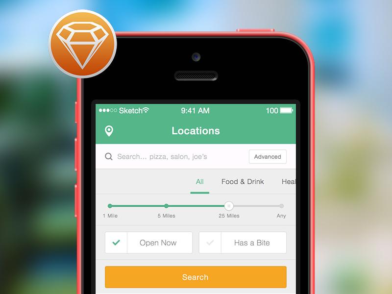 Restaurant App for iOS .sketch restaurant app sketch ui ux ios freebie