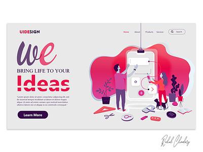 UI Designing for your Ideas freelance website web inteface ux ui user fashion brand design app branding