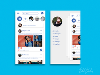 Facebook Redesign for Uplabs challenge