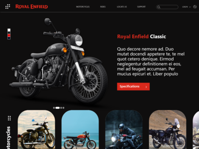 Royal Enfield Clasic Website by Rahul Chowdary