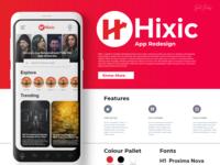 Hixic App Redesign