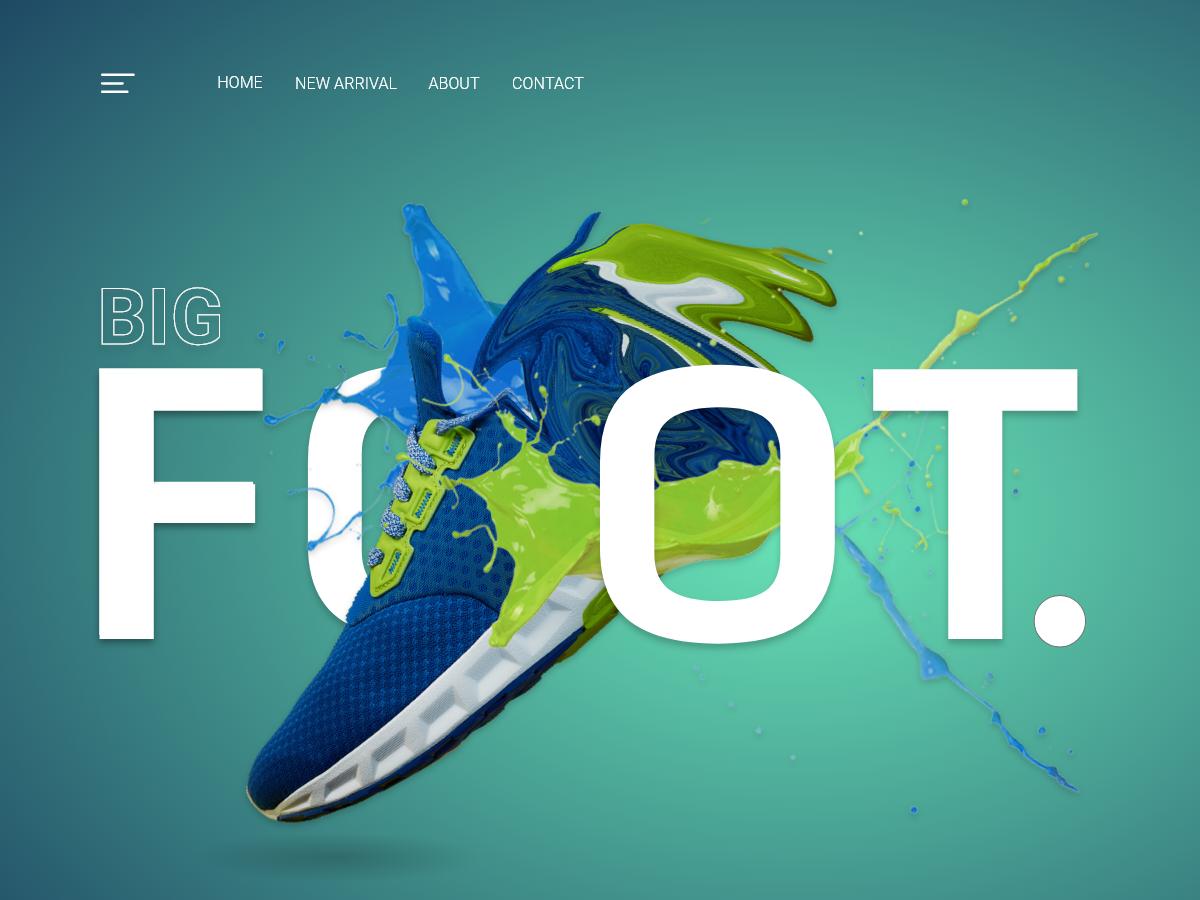 Shoes Store Website animation vector typography illustration inteface ux fashion brand branding app branding design web website