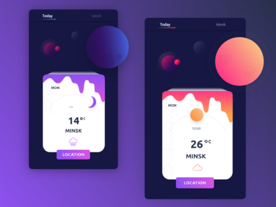 Space Weather minsk planet space adobe xd design weather