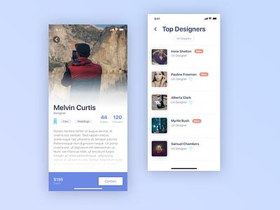 design profiles iphonex mobile ui design