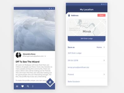 Material 2.0 app blue mobile google material