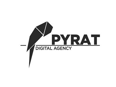 Pyrat adobe drawing blacklogo logos logotype parrot branding logo