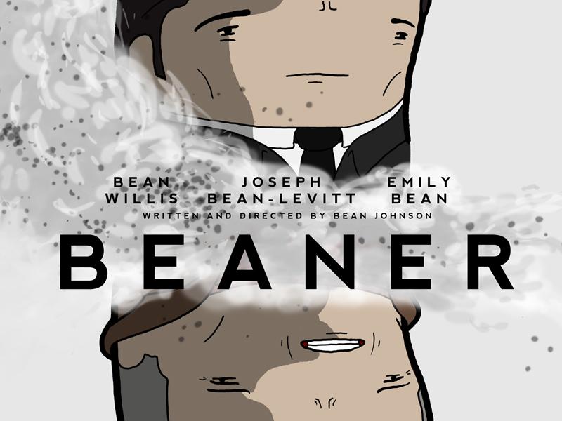 """This time travel crap, just fries your brain like an egg..."" bean evilhairday looper spoof poster illustration photoshop emily blunt joseph gordon-levitt bruce willis"