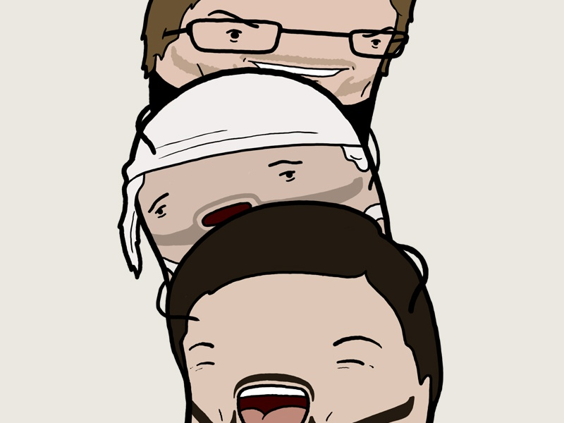 Bean abroad caricature photoshop illustration karl pilkington ricky gervais stephen merchant idiot abroad bean evilhairday