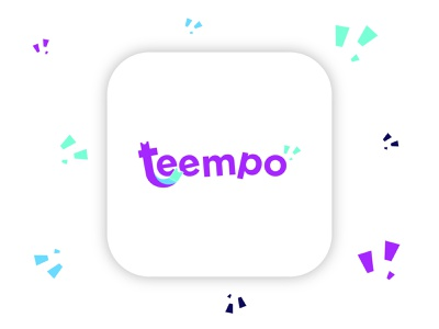Logo of Teempo - Ticket Marketplace App typography ui design illustration purple branding logo