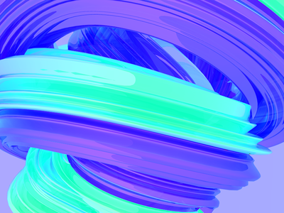 ABSTRACT purple blue 3d