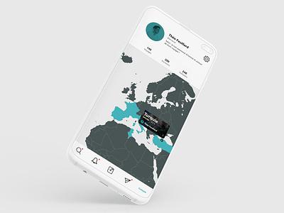 Waiho Account UI application blue galaxy s10 app branding ui design