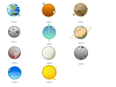 Solar system outlined