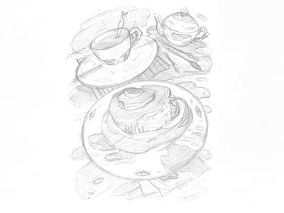 Work in progress work in progress карандаш карандашный эскиз cluttery cups tea party монстр эскиз иллюстрация creature art creature design creature monster bread draft pencil draft pencil sketch drawing hand drawing illustration