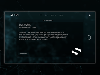 iMuon website UI