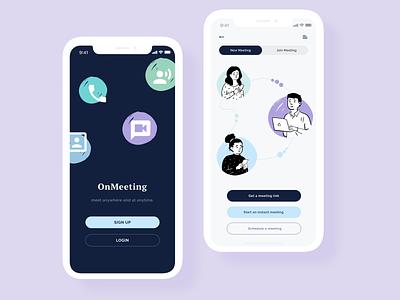 Online Meeting openpeeps online meeting clean ui illustration mockup mobile app mobile ui app design ui