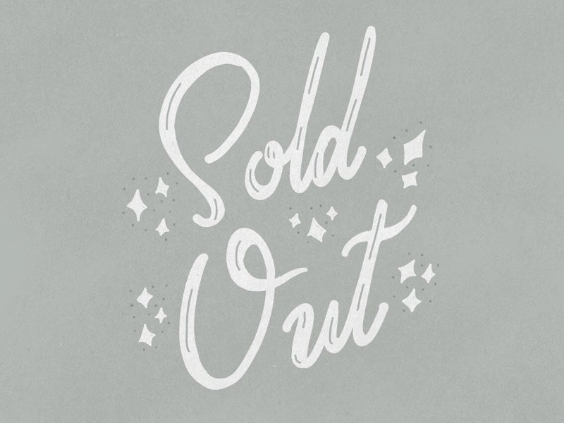 Sold Out type typography vintage type modern lettering illustration hand lettering lettering