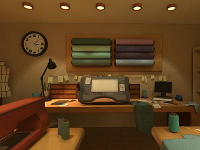 Aletier studios table work environment 3d art 3d studio atelier design