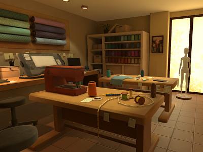 Atelier2 machine studios table work studio environment 3d art 3d design