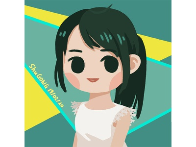 Xiaolei dress white girl illustration photoshop 2d art 2d concept design