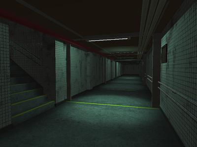 Couloir environement 3d modeling 3d art 3d design