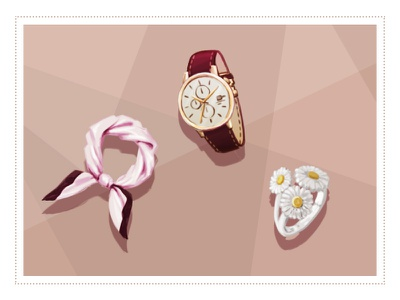 Accessoires shop fashion redwine ring bague silk montre watch bijoux