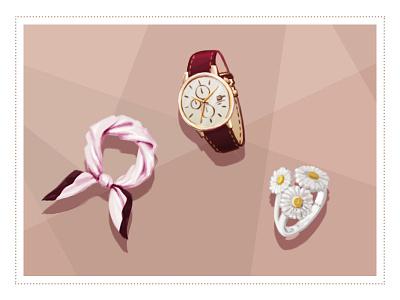 Accessoires shop fashion redwine ring bague silk montre watch bijoux