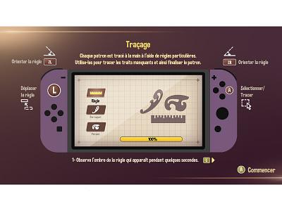 Explication purple violet switch game photoshop ui 2d art 2d design