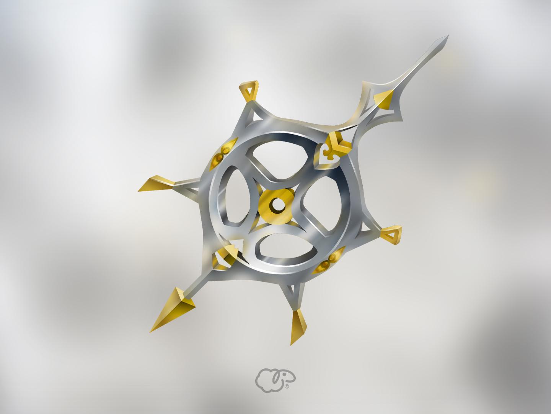 Booster silver time pointer clock gold argent logo interface illustration ui photoshop concept 2d art 2d design