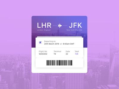 Daily UI #24 - Boarding Pass design ui design ux ui daily ui