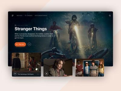 Daily UI #25 - TV App web design ux ui daily ui ui design