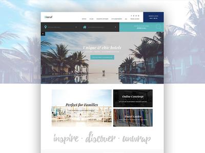 Travel Website Concept website design web  design ui ui design