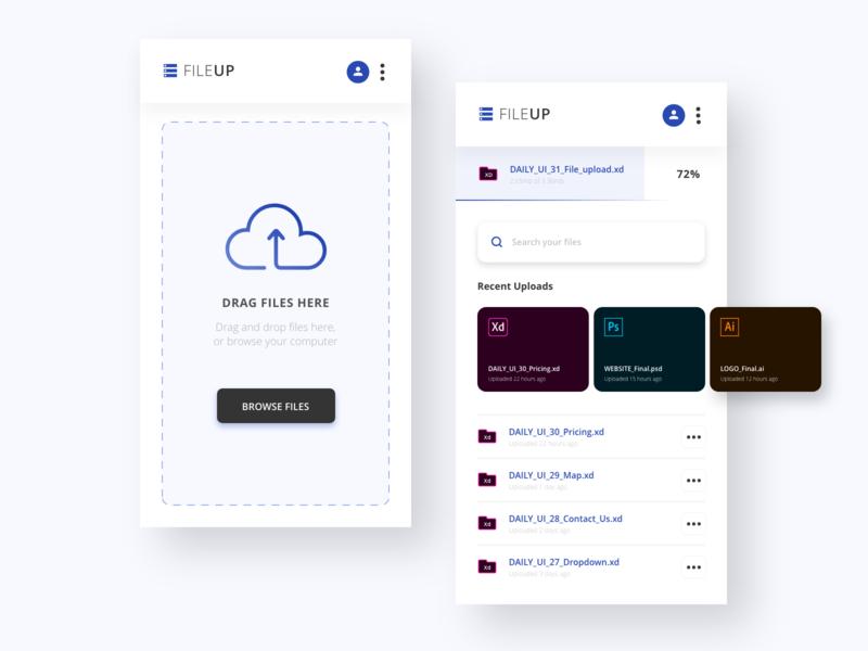 Daily UI #31 - File Upload website design mobile app ux ui daily ui ui design