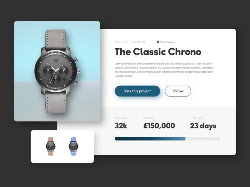 Daily UI #32 - Crowdfunding Campaign website design ux ui daily ui ui design