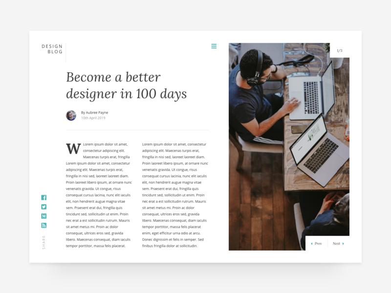 Daily UI #35 - Blog Post web blog typography design website design ux ui daily ui ui design