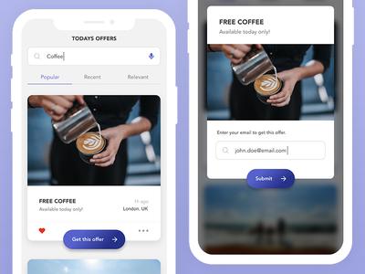 Daily UI #36 - Special Offer app design mobile app ux ui daily ui ui design