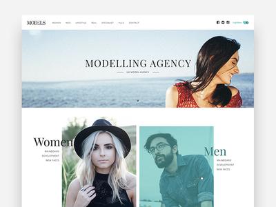 Modelling Agency Website Concept website concept modelling agency website design ux ui website design ui design