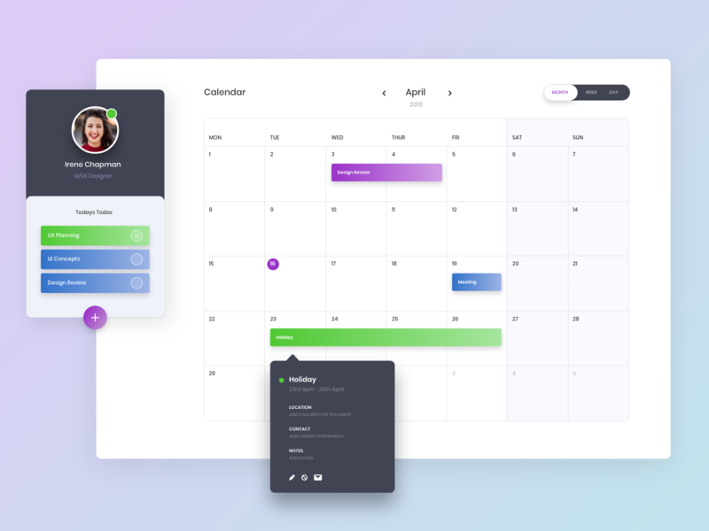 Daily UI #38 - Calendar web website design calendar app app design ux daily ui ui ui design
