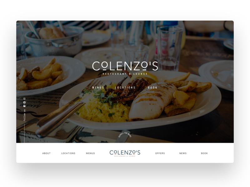 Restaurant Website Header landing page web design design website design ui ui design