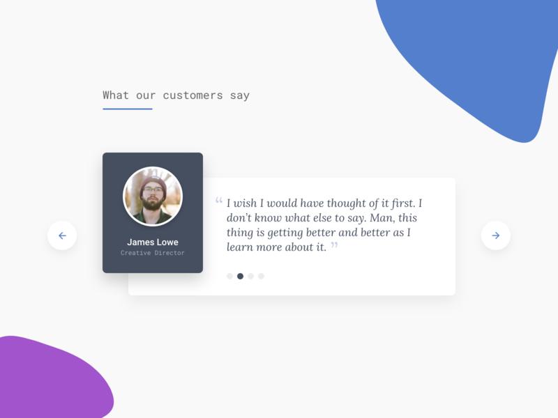 Daily UI #39 - Testimonial web app design website design ux daily ui ui ui design