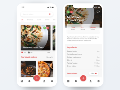 Daily UI #40 - Recipe recipe app design ux daily ui ui ui design