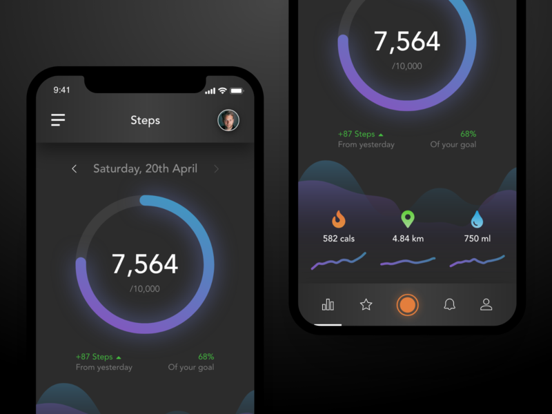 Daily UI #41 - Workout Tracker fitness app workout tracker mobile app app design app ux daily ui ui ui design