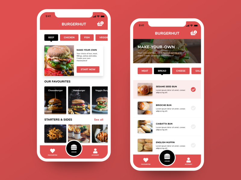 Daily UI #43 - Food/Drinks Menu design mobile app ux daily ui ui ui design