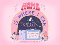 """Home is where...."" Lettering"