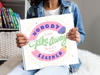 Lettering Book Cover Art