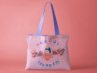 Hand Lettered Tote Bag Design