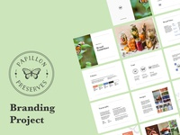 Papillon Preserves Branding illustrations graphic design logo typography photomanipulation illustrator composition branding design illustration