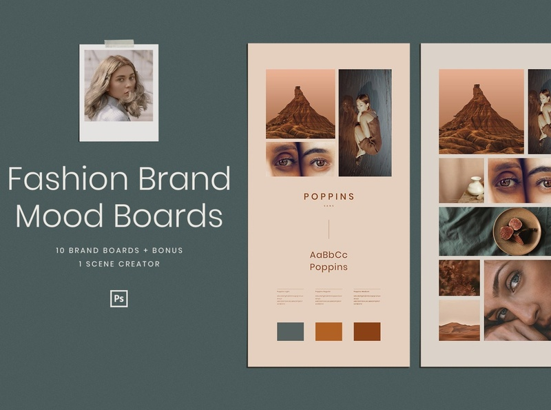Mood Board Mockup Designs Themes Templates And Downloadable Graphic Elements On Dribbble